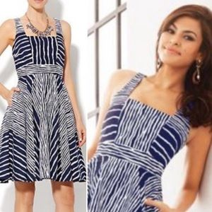 Eva Mendes Courtney Striped Dress with Pockets